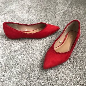 Express Red flats, size 6.5